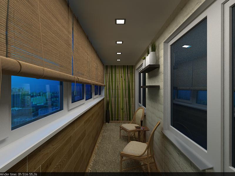 Дизайн балкон под ключ.
